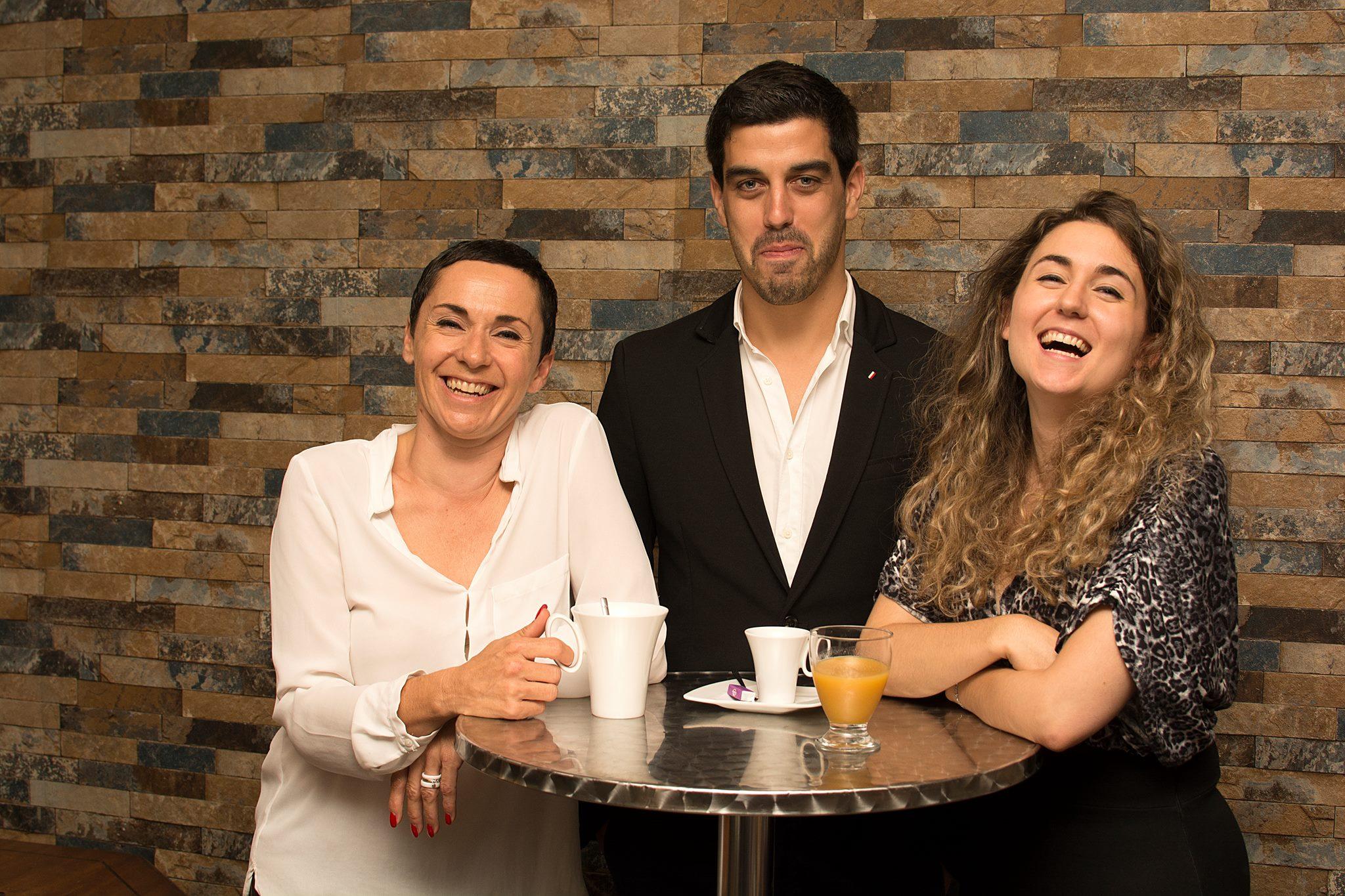 L'équipe de Let's Co_Up : Isabelle Roncin, Jérôme Thébault, Nolwenn Ragot